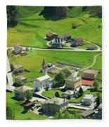 Val Poschiavo From The Bernina Express Switzerland Fleece Blanket