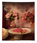 Valentine Cookies Fleece Blanket