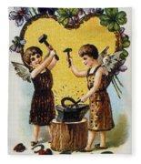 Valentines Day Card, 1900 Fleece Blanket