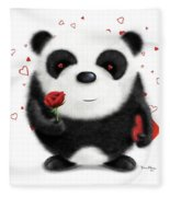 Valentine's Panda Fleece Blanket