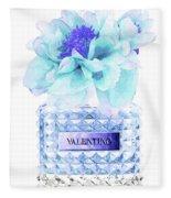 Valentino Blue Perfume Fleece Blanket