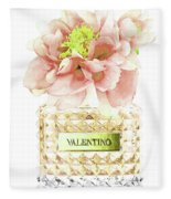 Valentino With Peony Fleece Blanket