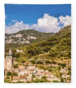 Valldemossa View From The Town Fleece Blanket