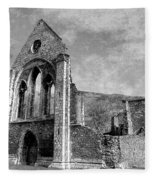 Valle Crucis Abbey Monochrome Fleece Blanket