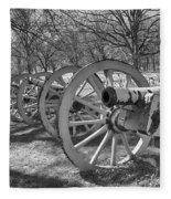 Valley Forge Battery Blackened White Fleece Blanket