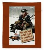 Valley Forge Soldier - Conservation Propaganda Fleece Blanket