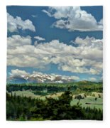 Valley In The Rockies Fleece Blanket