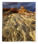 Valley Of Fire 1 Fleece Blanket
