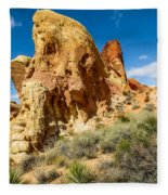 Valley Of Fire - Face In The Rock Fleece Blanket