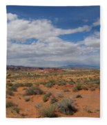 Valley Of Fire Horizon Fleece Blanket