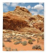 Valley Of Fire Fleece Blanket