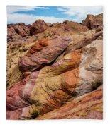 Valley Of Fire Fleece Blanket
