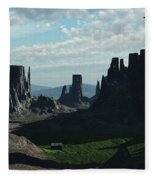 Valley Of The Kings Fleece Blanket