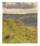 Valley Of The Teme, A Sunny November Morning Fleece Blanket