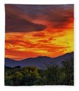 Valley Sunset H33 Fleece Blanket