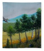 Valley View From Up The Hill Fleece Blanket