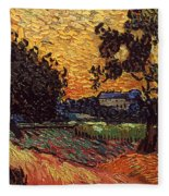 Van Gogh: Castle, 1890 Fleece Blanket