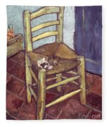 Van Gogh: Chair, 1888-89 Fleece Blanket