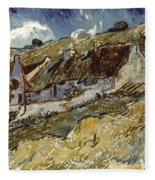 Van Gogh: Cottages, 1890 Fleece Blanket