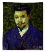 Van Gogh: Dr Rey, 19th C Fleece Blanket