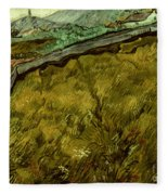 Van Gogh: Field, 1890 Fleece Blanket
