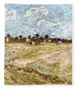 Van Gogh: Fields, 1888 Fleece Blanket