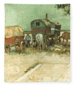Van Gogh: Gypsies, 1888 Fleece Blanket