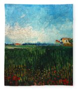 Van Gogh: Landscape, 1888 Fleece Blanket