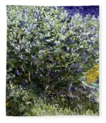 Van Gogh: Lilacs, 19th C Fleece Blanket