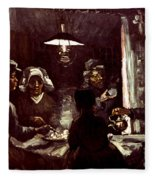 Van Gogh: Meal, 1885 Fleece Blanket