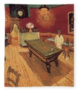 Van Gogh Night Cafe 1888 Fleece Blanket