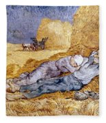 Van Gogh: Noon Nap, 1889-90 Fleece Blanket