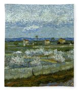 Van Gogh: Peach Tree, 1889 Fleece Blanket