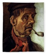 Van Gogh: Peasant, 1884 Fleece Blanket