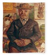 Van Gogh: Pere Tanguy, 1887 Fleece Blanket