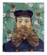 Van Gogh: Postman, 1889 Fleece Blanket