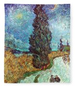 Van Gogh: Road, 1890 Fleece Blanket