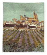 Van Gogh: Saintes-maries Fleece Blanket
