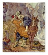 Van Gogh: Samaritan, 1890 Fleece Blanket
