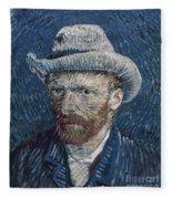 Van Gogh: Self-portrait Fleece Blanket