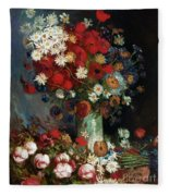 Van Gogh Still Life 1886 Fleece Blanket