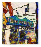 Van Gogh Takes A Wrong Turn And Discovers The Castro In San Francisco . 7d7547 Fleece Blanket