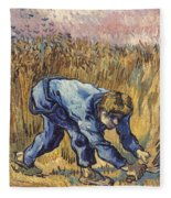 Van Gogh: The Reaper, 1889 Fleece Blanket
