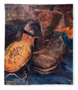 Van Gogh: The Shoes, 1887 Fleece Blanket