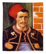 Van Gogh: The Zouave, 1888 Fleece Blanket