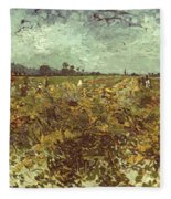 Van Gogh: Vineyard, 1888 Fleece Blanket