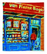 Van Horne Bagel Fleece Blanket