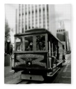 Van Ness And Market Cable Car- By Linda Woods Fleece Blanket