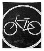 Vancouver Bike Lane- Art By Linda Woods Fleece Blanket