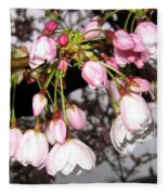 Vancouver Cherry Blossoms Fleece Blanket